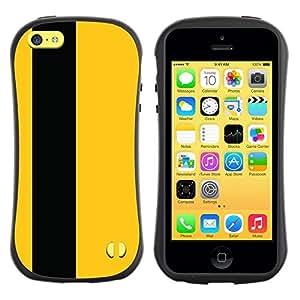 "Hypernova Slim Fit Dual Barniz Protector Caso Case Funda Para Apple iPhone 5C [Negro raya minimalista Vertical""]"