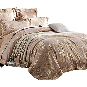 Amazon Com Rose Gold Bedding Glamour Damask Paisley Print