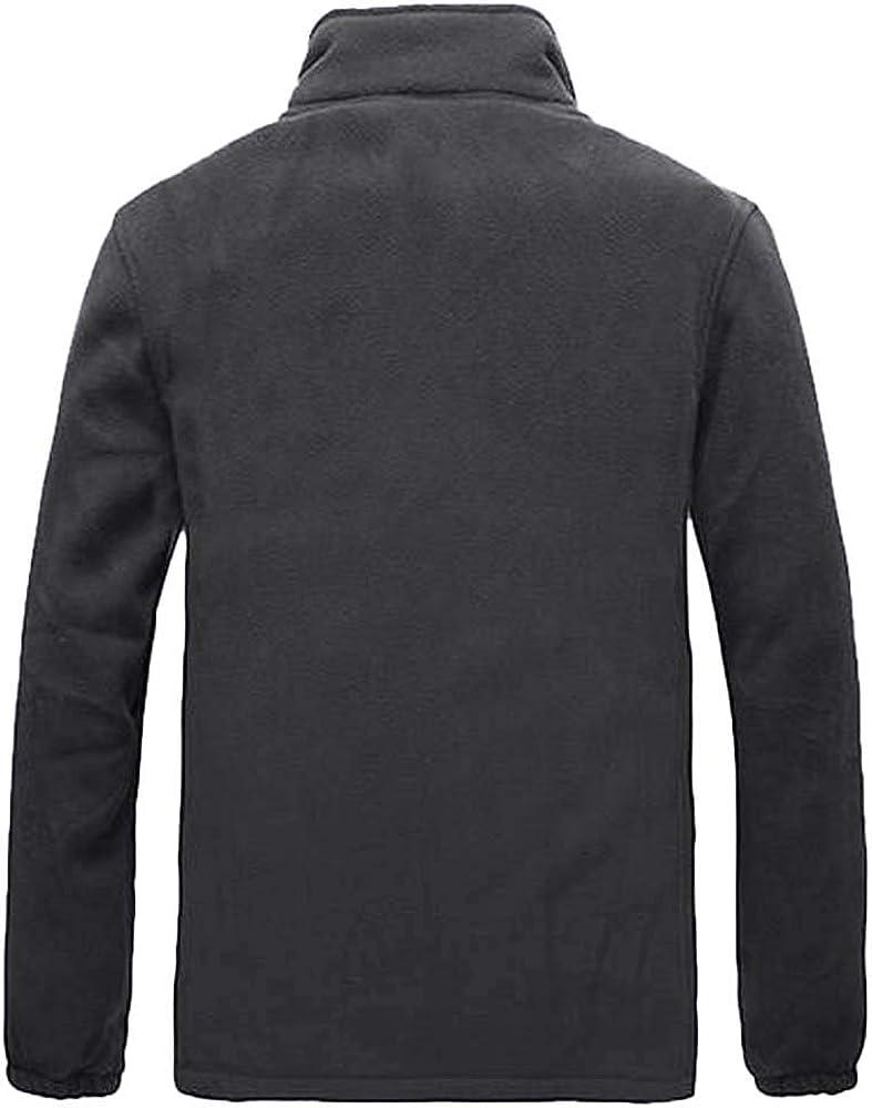 YKARITIANNA Men Zip Up Daily Wear Jackets,Autumn Winter Sports Jogger Jacket Patchwork Outwear Long Trench Buttons Coat
