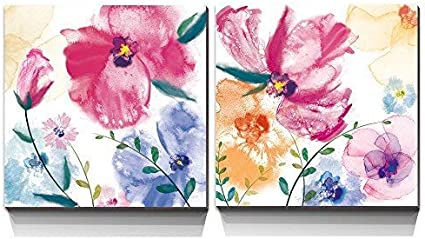 COLOURFUL SUMMER FLOWERS CANVAS PICTURE PRINT WALL ART HOME DECOR FREE DELIVERY