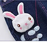 Kidscool Baby Girls Casual Soft Denim Overalls