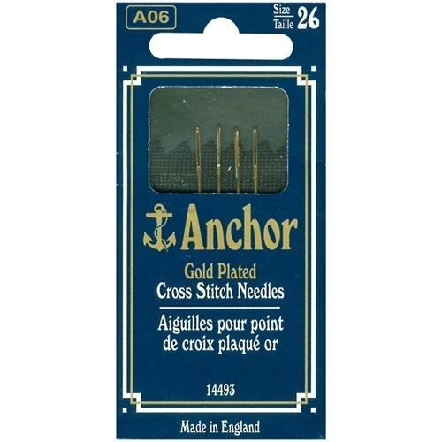 Susan Bates Anchor Gold-Plated Cross Stitch Needles-Size 26 4//Pkg