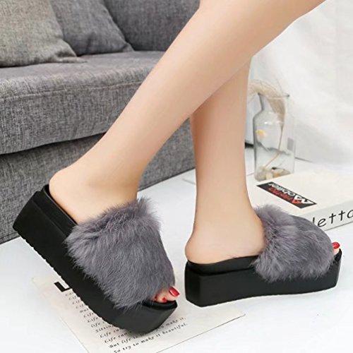 Zapatillas Deporte Sandalias Zapatos De Con Verano Gray Solapa TWGDH Mujeres Gruesos Bajos 8pcS8fa
