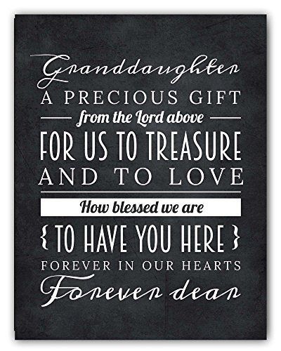 Granddaughter Gift from Grandparents, Granddaughter Sign, Unique Granddaughter Gift, Granddaughter Quote Chalkboard Print, Best Granddaughter Gift Idea, 8x10