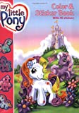 My Little Pony Color and Sticker Book, Ann Marie Capalija, 0060549459