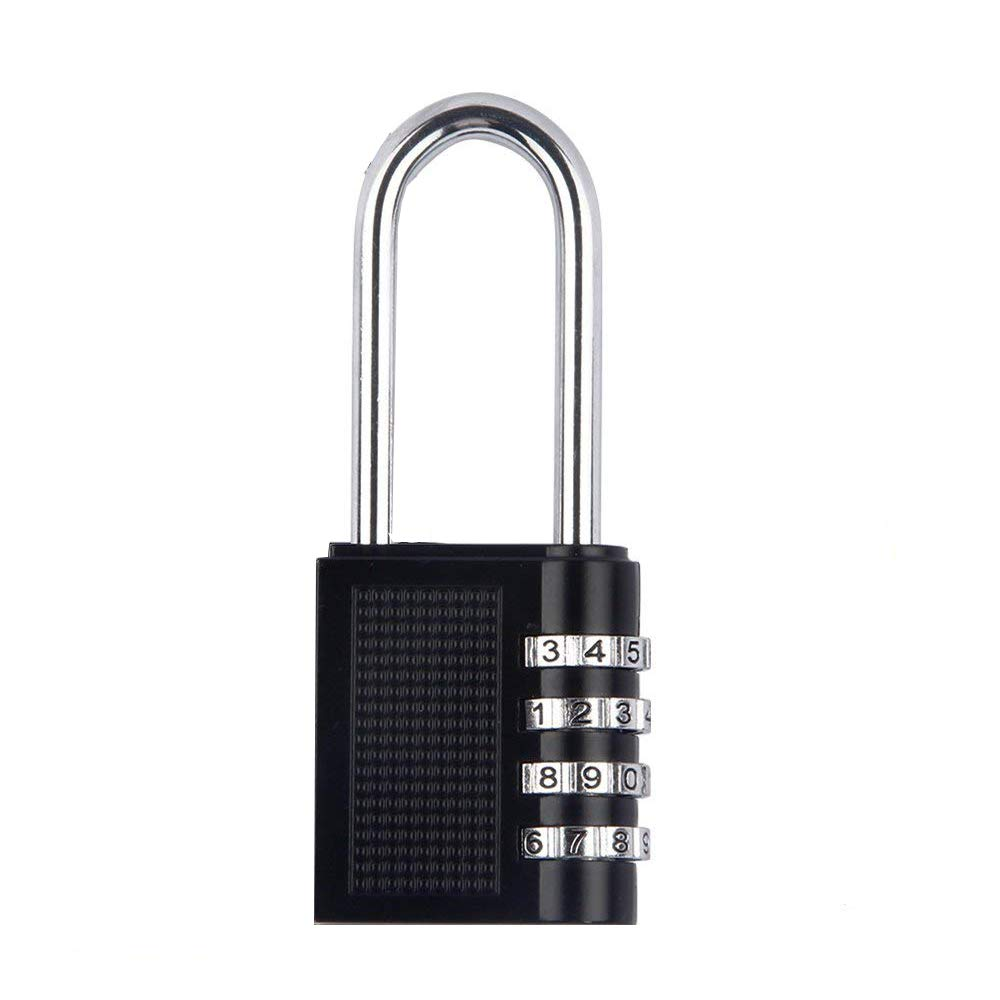 4 Digit Combination Lock for Gym Outdoor /& School Locker Fence Case /& Shed Black, 1 Pack Heavy Duty Resettable Set Your Own Combo long lock Long beam padlock Padlock