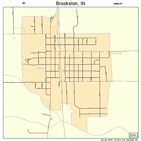 Amazon Com Large Street Road Map Of Brookston Indiana In