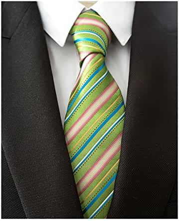 Abundance New Woven Microfiber Classic Men'S Business Tie Striped Necktie Solid Ties