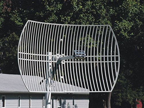 AD2401-24XS, 2.4GHz 24dBi Directional Grid Weather Resistant Parabolic Antenna, N Female connector plus SMA adaptor