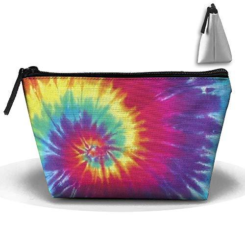 Travel Pouch Storage Trapezoid Rainbow Tie Bag Organizer Dye Clutch Pastel 4wZIvqw