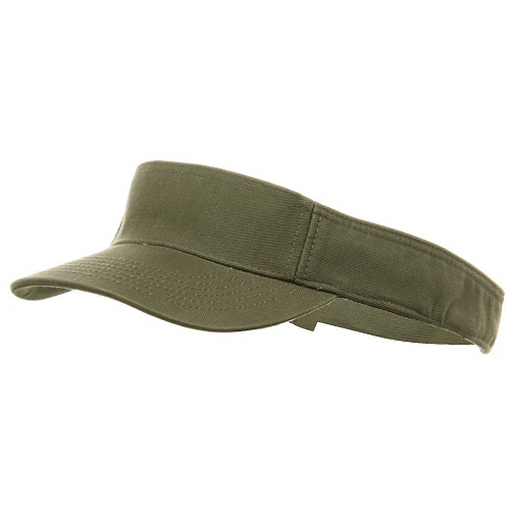 MG Youth Pro Style Cotton Visor, Olive by MG