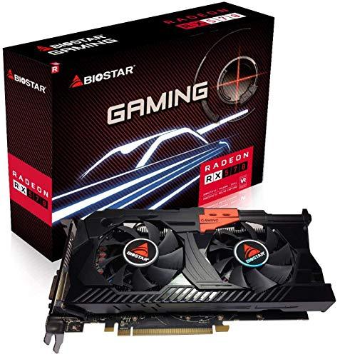 Biostar OC Gaming Radeon RX 570 8GB GDDR5 256-Bit DirectX 12 PCI Express 3.0 x16, DVI-D Dual Link, HDMI, 3 DisplayPort and Commander Assault Weapon Gaming Dual Cooling Fan Edition