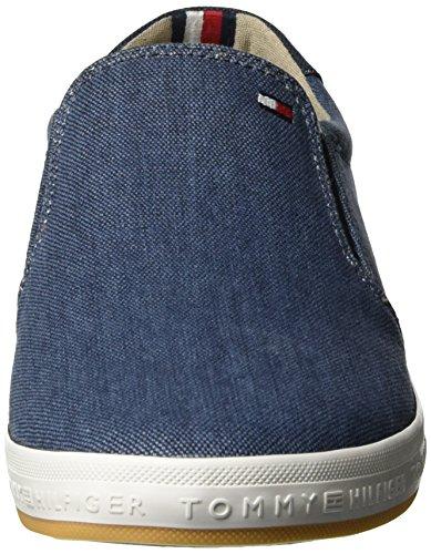 Tommy Hilfiger H2285owell 2d2, Zapatillas para Hombre Azul (Jeans 013)