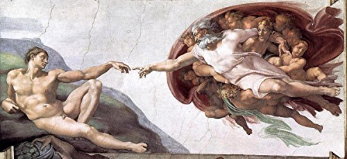 - Gifts Delight Laminated 24x11 Poster: Michelangelo Buonarroti - Michelangelo di Lodovico Buonarroti Simoni 1475 1564 The Creation of Adam c. 1511 Fresco