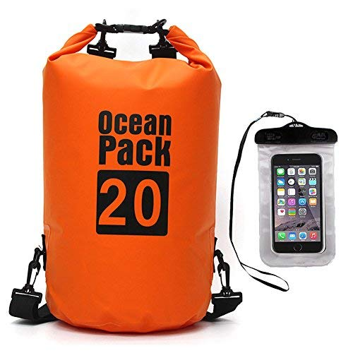 Premium Waterproof Dry AfooBezos Bag, AfooBezos 5L/10L/20L Roll with Phone Top Sack Keeps Gear Dry, Detachable Adjustable Shoulder Strap Dry Sack for Kayaking,Swimming,Rafting with Waterproof Phone Case (Orange, 20L) [並行輸入品] B07R3Y735T, mesanges by GinzaRim:eb0ade9b --- anime-portal.club