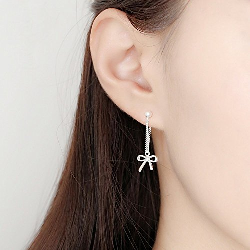 A&C Fashion Korean Version Alloy Geometric Shapes Earrings for Women. Unique Handmade Earrings Jewelry for Girl. (Silver (Korean Style Earrings)