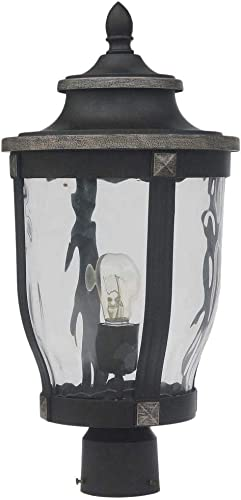 Home Decorators Collection McCarthy 1-Light Bronze Outdoor Post Mount