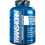 Evlution Nutrition Trans4orm Thermogenic Energizing Fat Burner Supplement, Increase Weight Loss, Energy and Intense Focus (Trans4orm 60 Serving)
