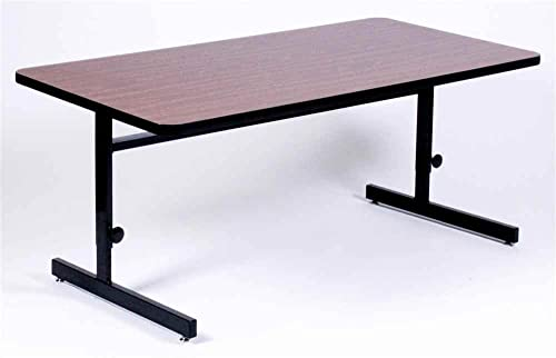 Cheap Correll 24″x60″ Rectangular Adjustable Height Training Table modern office desk for sale