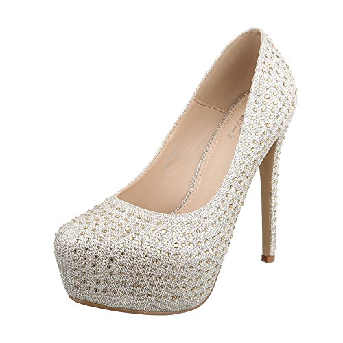 Zapatos Design de Material Sintético Gold mujer 105 Ital vestir EK para de COpHqwxw