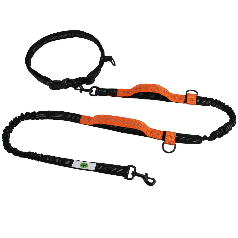 Hands Free Dog Leash 7ft Heavy Duty Dog Leash Adjustable Waist Belt Free Control for up to 150lbs Dogs for Runing, Jogging or Walking Large Dog Leash Double Dog Leash Dual Dog Leash