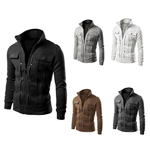 Diseñado de Hombres Capa Solapa Herren Mens Chaqueta Moda Cardigan los de Slim Top ♚Btruely Negro zwTqz