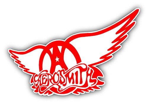SkyLabel Aerosmith Music Rock Band Red Wings Bumper Sticker Vinyl Art Decal for Car Truck Van Wall Window (10'' X ()