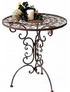 Gartentisch rund metall antik  Gartentisch AVIS rund 70cm Metalltisch klappbar aus Metall ...