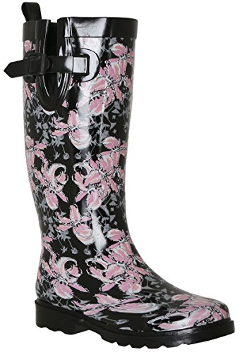 Black Rain Lining Boots Cozy York Tall New Capelli Ladies wvB88O