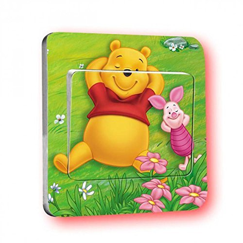 Disney Winnie pooh Lichtschalter Wandsticker selbstklebend Kinder Aufkleber Disney Winnie pooh Cartoon Motiv Deko Schalter- CartoonPrintDesign - L011