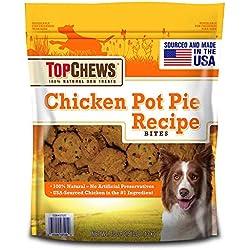 Top Chews 100% Natural USA-Sourced Chicken Pot Pie Treat Bites - 2.5 lbs (40 oz.) (Original Version) (Original Version)