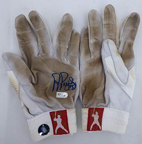 Albert Pujols Autographed Game Used Nike Batting Gloves with Signed Certificate St. Louis Cardinals, Los Angeles Angels MLB Holo #FJ293713