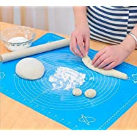 Sungpunet Extra Large Silicone Baking Mat for Pastry Rolling with Measurements Pastry Rolling Mat, Reusable Non-Stick Silicone Baking Mat (Blue)