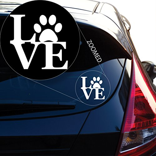 Yoonek Graphics LOVE my Dog Decal Sticker for Car Window, Laptop and More. # 621 (4