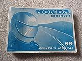 Honda 1999 CBR600 CBR 600 F4 CBR600F4 Owners Manual