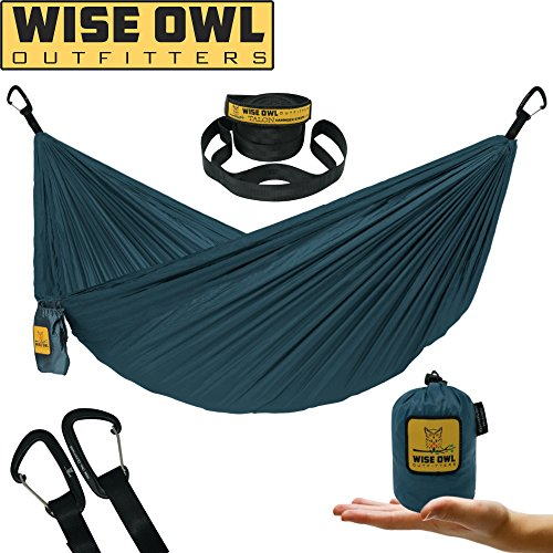 Wise Owl Outfitters Ultralight Hammock With Tree Straps For Camping – Featherlight Compact, Durable Ripstop Parachute Nylon Hammocks Lightweight Gear for Outdoors, Backpacking, Hiking