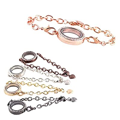 Generic Magnetic Crystal Living Memory Locket Bracelet For Floating Charms Gift