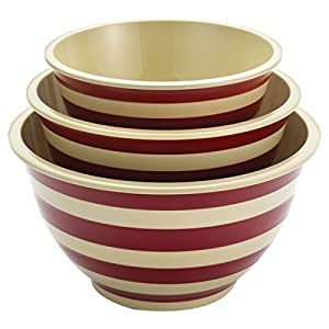 Paula Deen, 3 Piece Signature Pantryware Mixing Bowl Set Includes 1 Small, Medium and Large Mixing Bowl