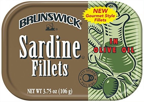 BRUNSWICK Wild Caught Sardine Fillets in Mustard and Dill Sauce, Olive Oil