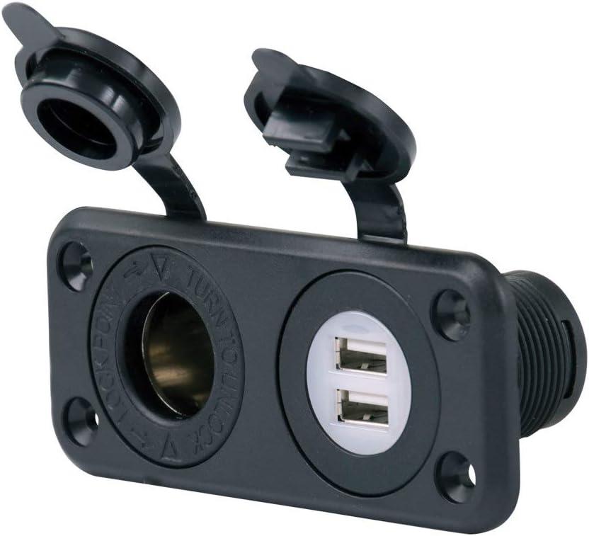 Marinco ParkPower 12VCOMBO 12V Combo USB Port and 12V Socket
