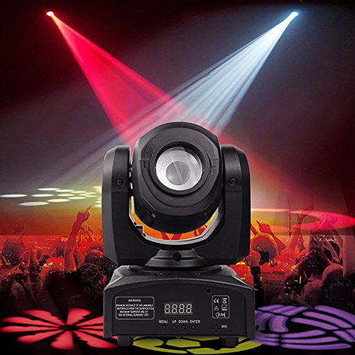 BETOPPER DJ Moving Head Light LED Spot Stage Lighting 8 Colors Light 10W with 9/11 Channel for Party Disco DJ Show DMX-512