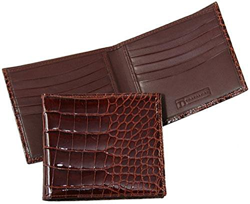 Trafalgar Men's Trafalgar Alligator Hipster Wallet, Chestnut, One Size by Trafalgar