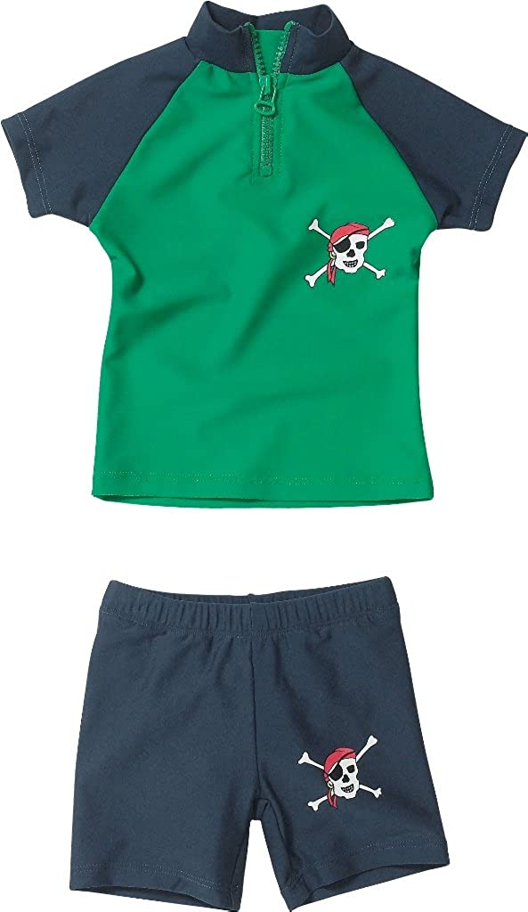 Playshoes Baby - Jungen Schwimmbekleidung 460082 2 tlg. Bade-Set (T-Shirt und Badeshorty) Pirat von Playshoes mit UV-Schutz nach Standard 801 und Oeko-Tex Standard 100