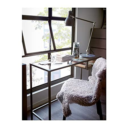 Ikea Vittsjö - Mesa para Ordenador portátil, Negro-marrón, Vidrio - 100x36 cm: Amazon.es: Hogar