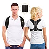 Upgraded Posture Corrector for Women and Men Under Clothes - Comfortable Breathable Adjustable Posture Correct Brace - Back Posture Brace - Clavicle & Back Support Brace - Upper Back Pain Relief