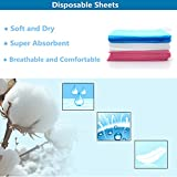 Disposable Sheets, 10Pcs Non-Woven Waterproof Bed