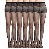 MANZI Women's Everyday Energy 6-Pack 20-Denier Silk Sheer Pantyhose
