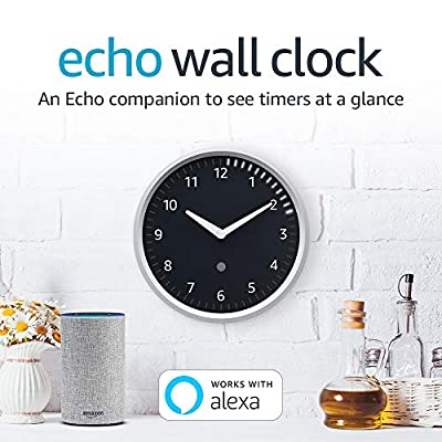 Echo Wall Clock - see timers at a glance - requires compatible Echo device - Echo Wall Clock helps you stay organized and on time. Easy-to-read analog clock shows the time of day. Digital 60 LED display shows one, or multiple, timers set through a paired Echo device. - wall-clocks, living-room-decor, living-room - 51oOn5SusOL. SS400  -