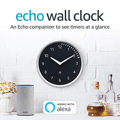 Echo Wall Clock – see timers at a glance – requires compatible Echo device
