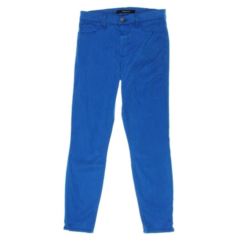 J Brand Skinny Leg Mid-rise Stretch Capri Pants 27 Breakwater Blue